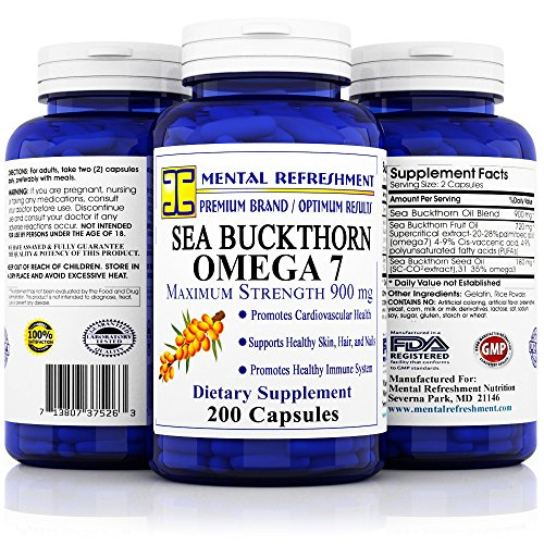 Mental Refreshment: Sea Buckthorn Oil – Omega 7 900mg 200 cap For Sale