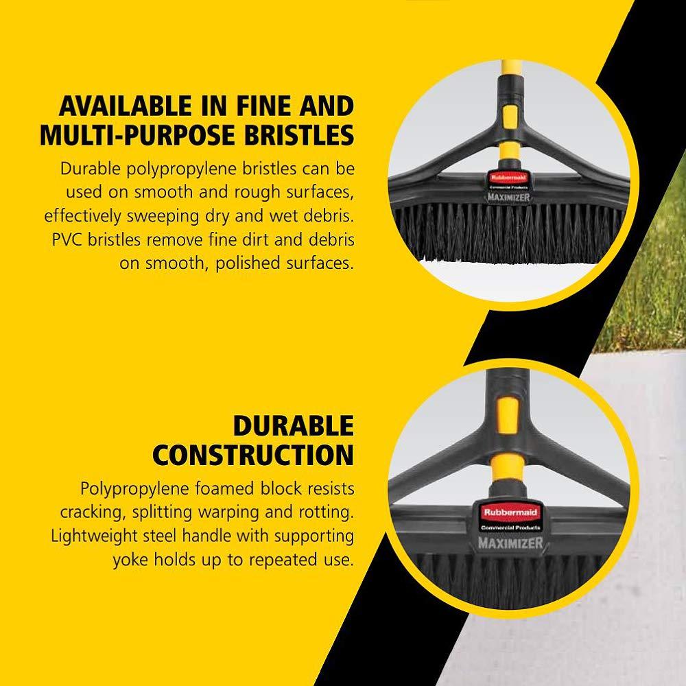 Rubbermaid Commercial Products Maximiszer Balai Poussoir /à Poils Fins 91,4 cm de Large 2018730 Noir