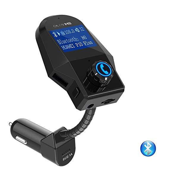 size 40 10e5c 4abad In-Car Bluetooth FM Transmitter, Wireless FM Modulator MP3 Player Stereo  Car Audio Radio Adapter, Handsfree Car Kit with USB Charging Ports, TF Card  ...
