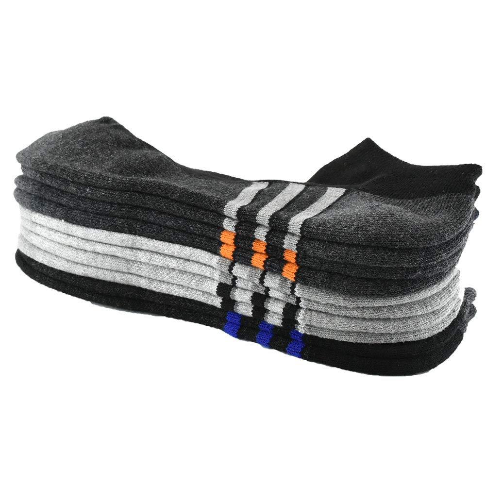 5 Pack ARABINXIN Mens Running Sports Comfort Cushioned Tab Socks