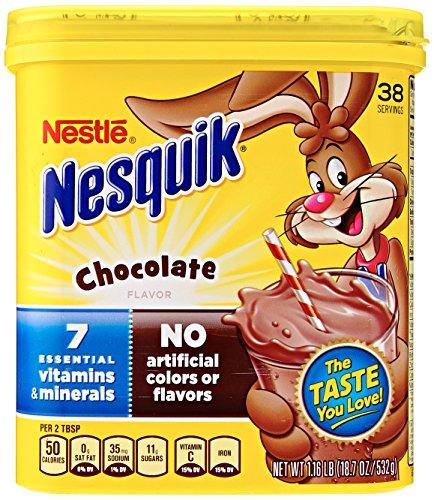 Chocolate Milk Mix (NesQuik Chocolate Powder Drink Mix, 18.7 Ounce)