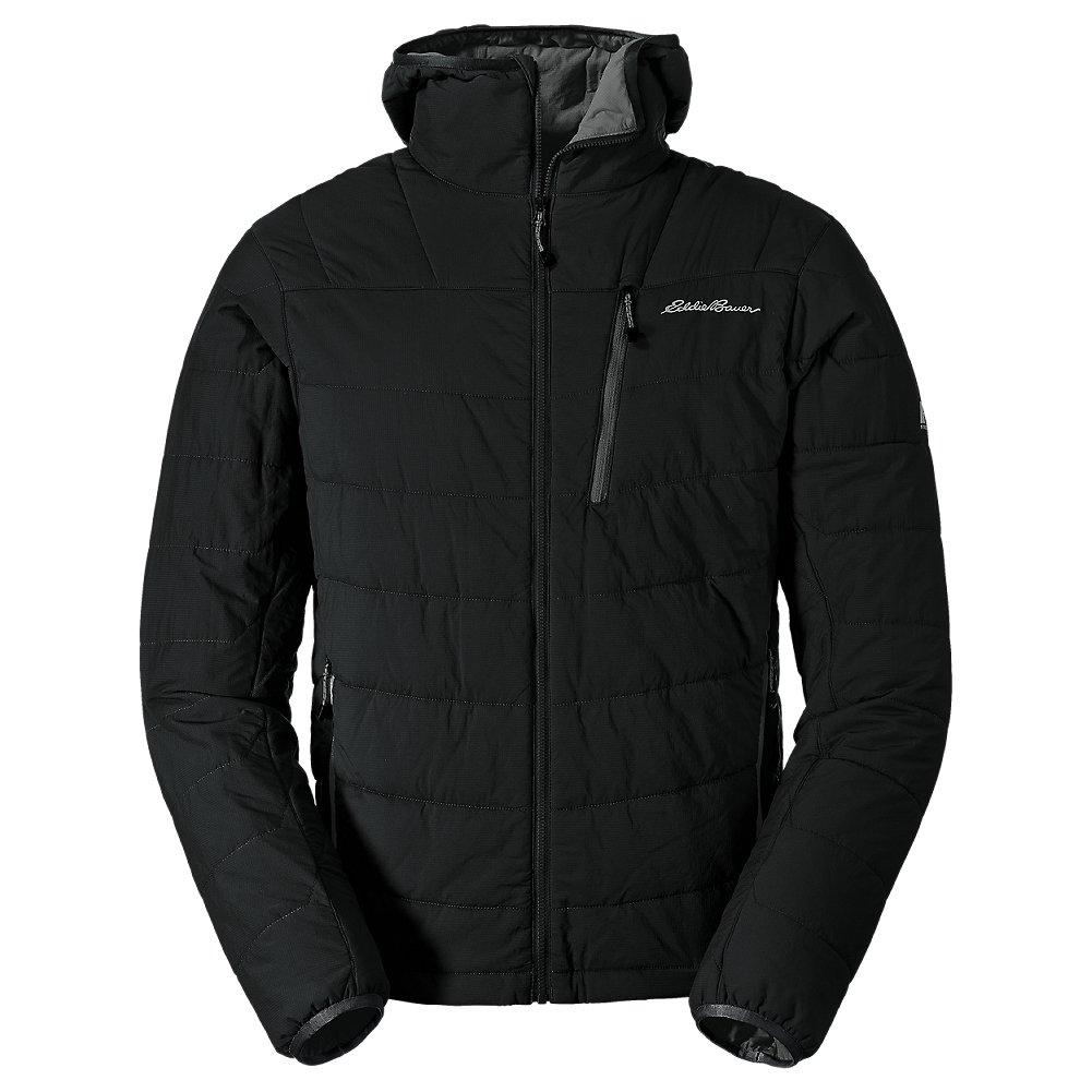 Eddie Bauer Men's IgniteLite Flux Stretch Hooded Jacket, Black Regular M