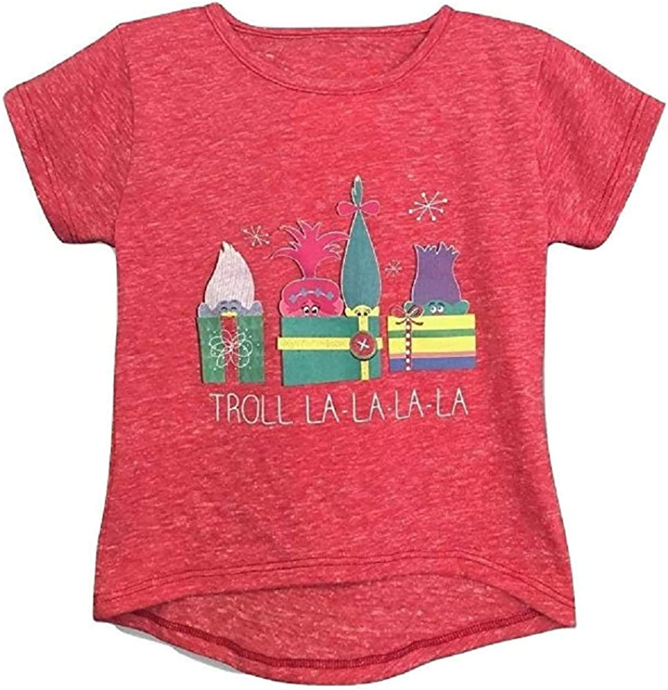 Toddler Girls Trolls LA-LA-LA-LA Christmas Shirt