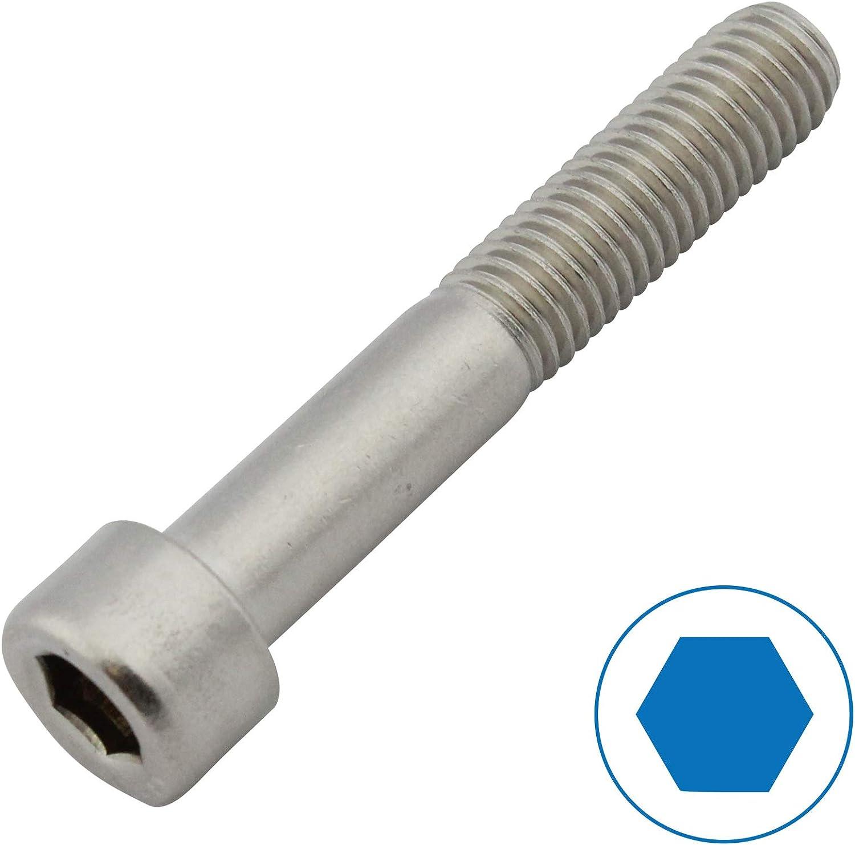 Edelstahl A2 V2A M2 x 14 DIN 912 D2D Zylinderschrauben mit Innensechskant VPE: 10 St/ück Zylinderkopfschrauben