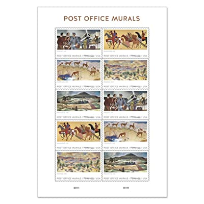Post Office Murals Forever Stamps 2020 Release (One Sheet of 10): Toys & Games