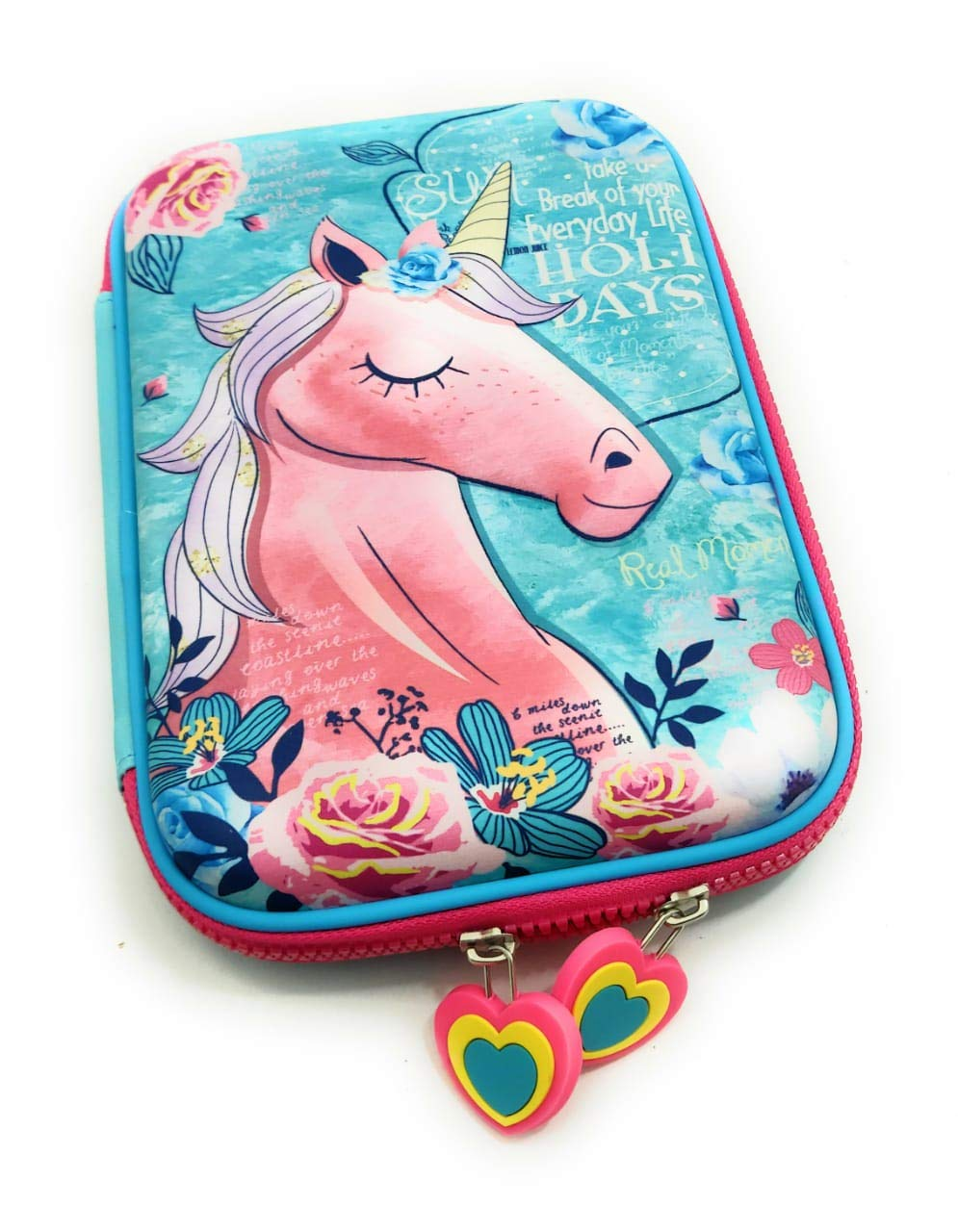 Funblast Multipurpose Zipper Stylish Unicorn Print Large