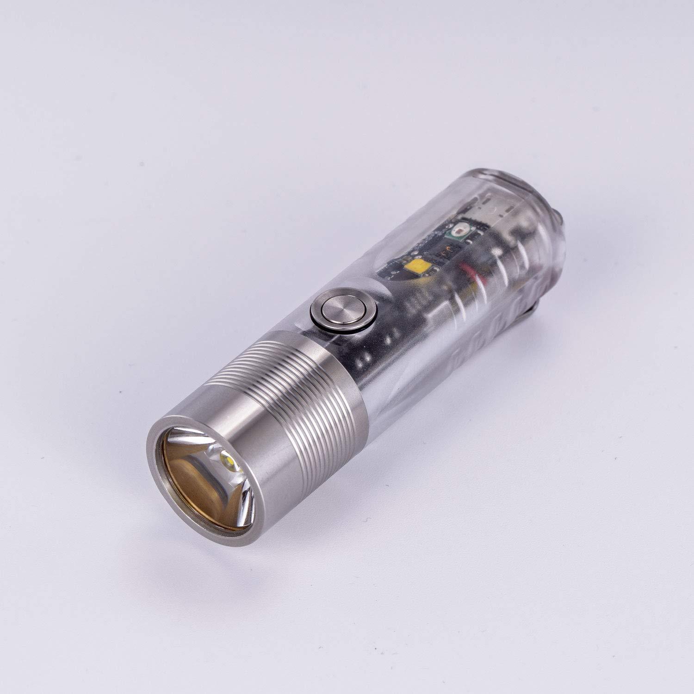RovyVon A28 Linterna 1000 l/úmenes, luz UV, chip Cree LED