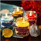 Supreme Lights Natural Scented Jar Candle Set(4pcsx3oz), Rose, Cotton, Autumn Leaves and Sage & Citrus