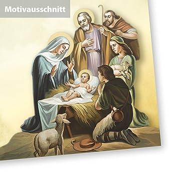 TATMOTIVE Weihnachtsgeschichte Weihnachtsbriefpapier DIN A4 90g 50 ...
