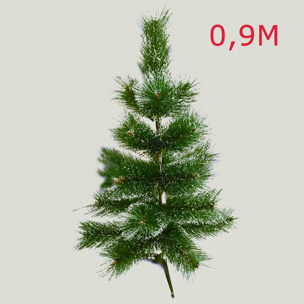 HENGMEI PVC Weihnachtsbaum Tannenbaum Christbaum Grün künstlicher mit mit mit Metallständer ca. Spitzen Lena Weihnachtsdeko (Grüne Tannennadeln mit Schnee-Effekt, 240cm) 830e73