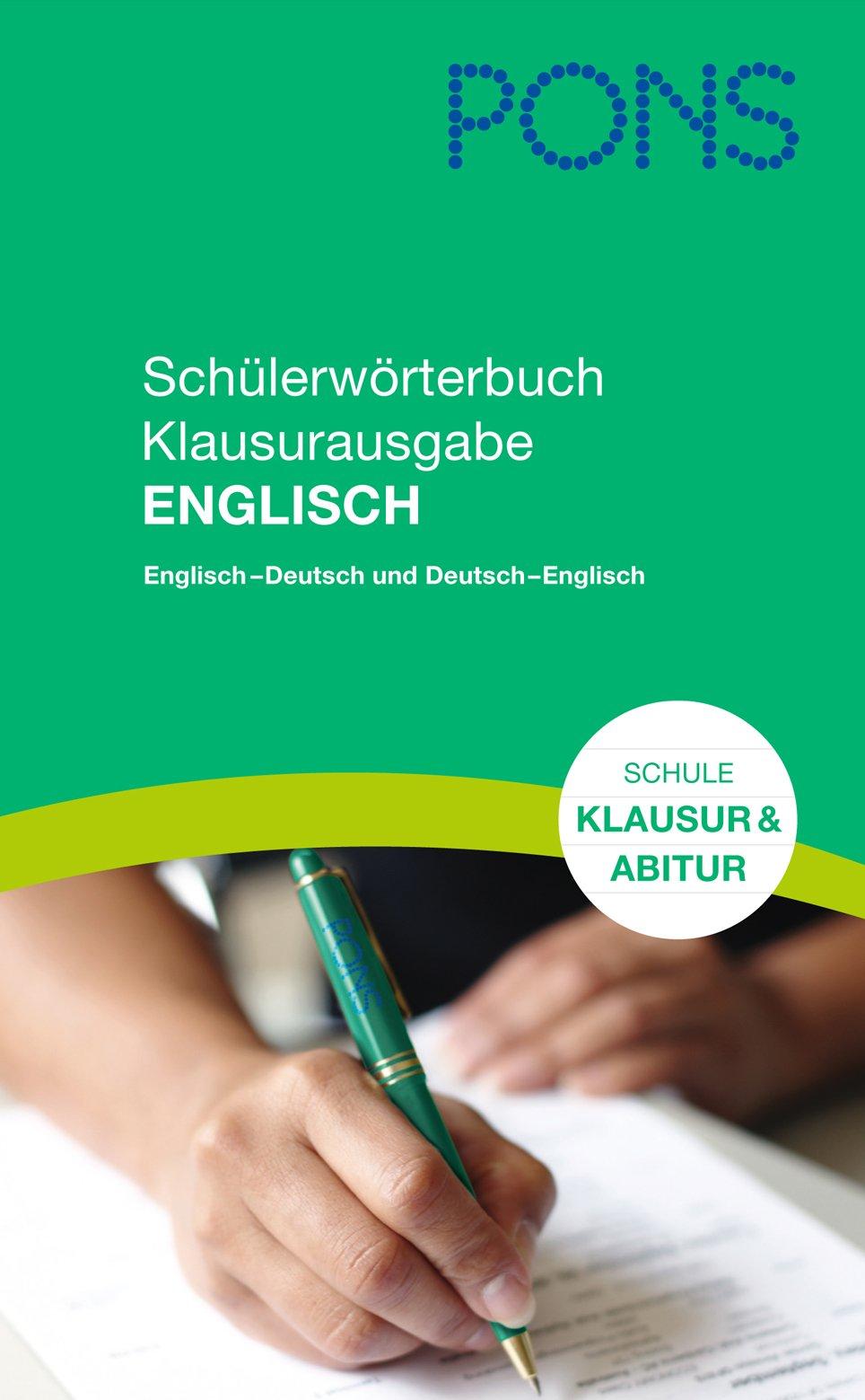 Pons Schülerwörterbuch Klausurausgabe Englisch Für Die Schule