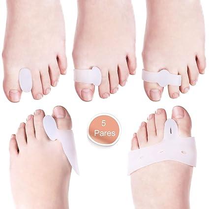 LOETAD 10Pcs Separador de Dedos Corrector de Juanetes Bunion Corrección Enderezador de Dedos Grandes Protección del
