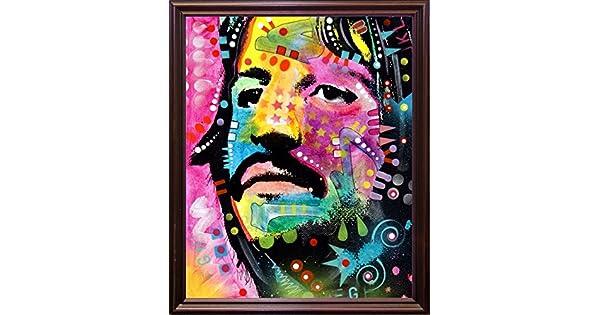 Frame USA Ringo Starr Framed 7.25x6 by Dean Russo-DEARUS118557 Print 7.25x6 Cherry Grande