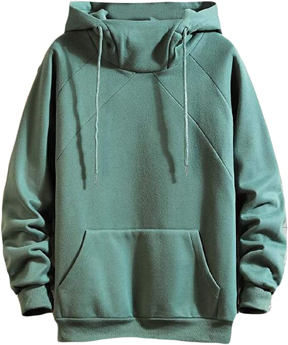 Cromoncent Men Fleece Lined Pullover Hoodie Sport Sweatshirts