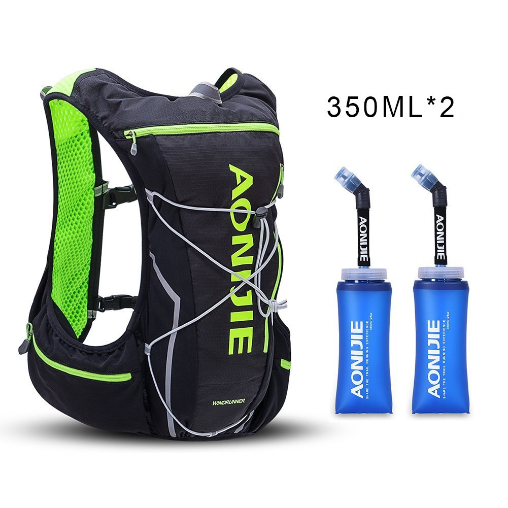 AONIJIE Running Hydration Pack Backpack for Men 10L Deluxe Running Race Hydration Vest Outdoors Mochilas for Marathon Running Cycling Hiking