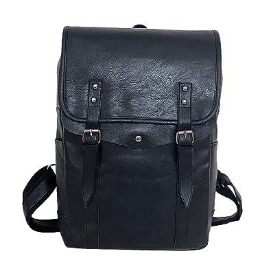 Unisex Suede Leather College Stuedent Backpack Shoulder Bag