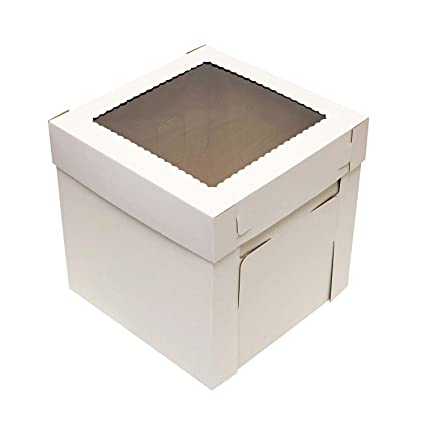 """32b5219bc22 Image Unavailable. Image not available for. Color  SpecialT Cake Boxes with  Window 25pk 12"""" x 12"""" x 8"""" Inch White"""
