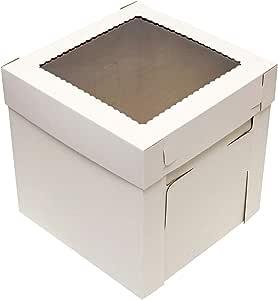 Cajas para tartas con ventana, tamaño grande, 25 unidades, color ...