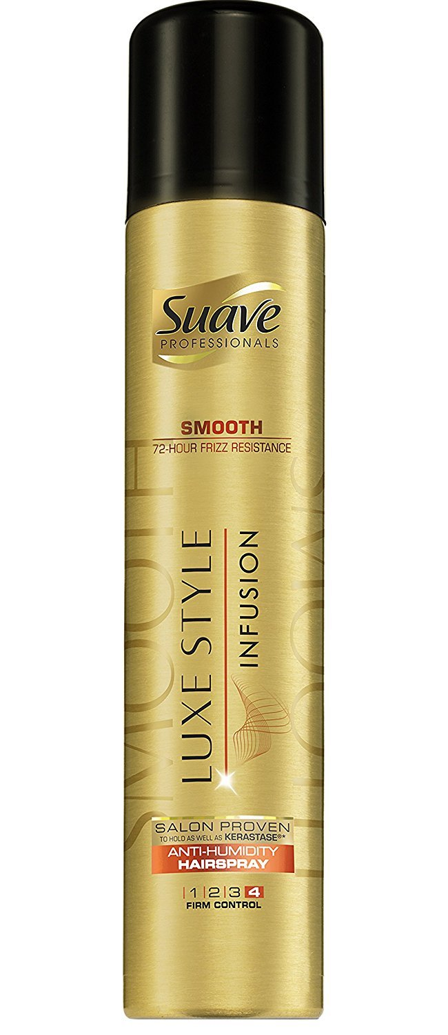 Suave Professionals Hairspray Luxe Styling Infusion Smooth Anti-Humidity 8.5oz (Pack of 3)