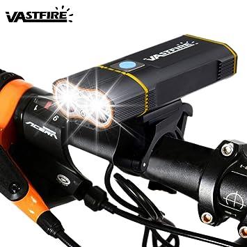 VASTFIRE Luz de Bicicleta, USB Recargable Luces para Bicicletas, Bike Headlight Bicycle Light,