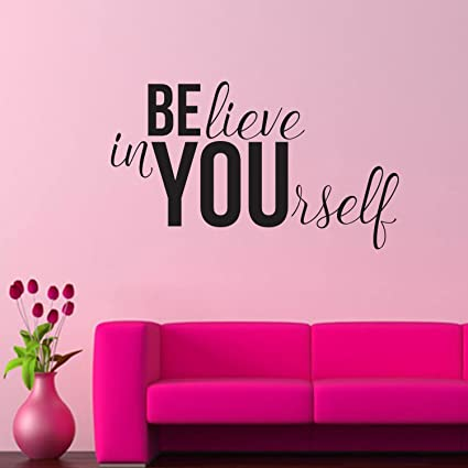 Amazon.com: Believe In YOUrself Inspirational Life Quotes - Wall Art ...