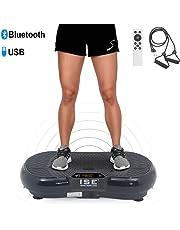 ISE Plateforme Vibrante Fitness, Grande Surface 67x36cm,99 Niveaux de Vitesses avec Bluetooth/USB/Télécommande,Idéal pour Fitness et Musculation | Perte de Poids Rapide,Max.150 KG,SY-328