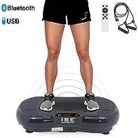 ISE Plateforme Vibrante pour Fitness Appareil d'Entraînement à Vibrations 99 Vitesses 5 Programmes et Haut-Parleurs Bluetooth SY-328