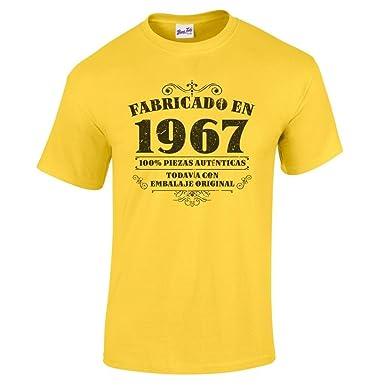 camiseta de hombre para regalo de cumpleaos en amarillo talla s