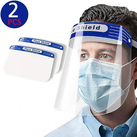 Yarnow 4 Pezzi di Sicurezza per Visiere Anti Nebbia Schizzi per Visiere in Plastica Trasparente Visiera in Plastica per La Protezione Degli Occhi per La Cucina Dellufficio Allaperto