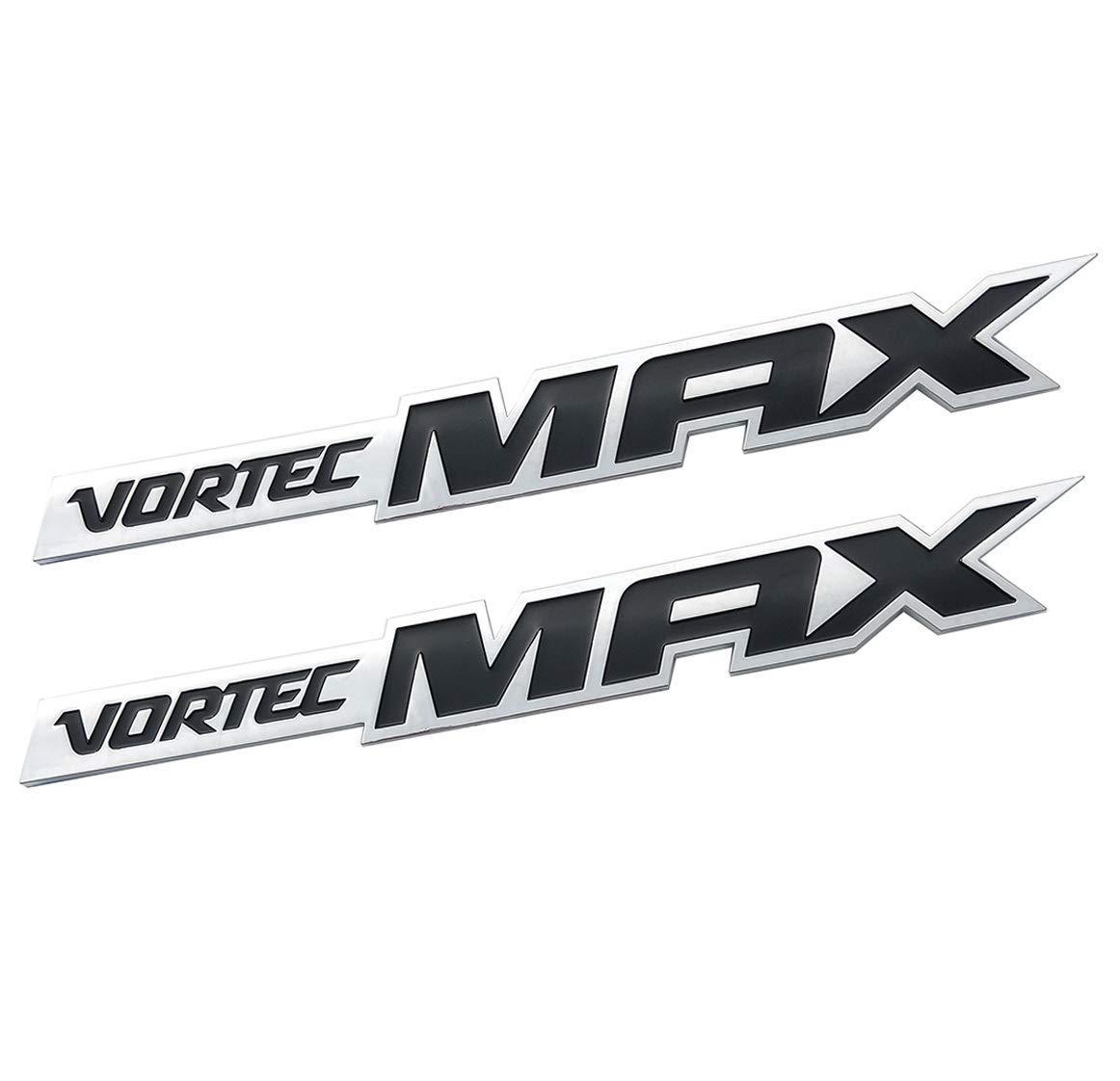 2Pcs 3D Door Emblem Badge ABS VORTEC MAX Fits Silverado Sierra SS 6.0 Black/&Red/&Chrome black