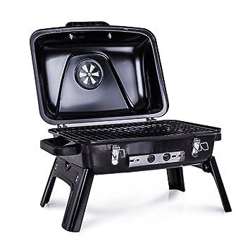 Estufa De La Barbacoa del Carbón De Leña Portable Plegable para La Herramienta Salvaje del BBQ Que Acampa Al Aire Libre (Los 53 * 40 * 39Cm): Amazon.es: ...