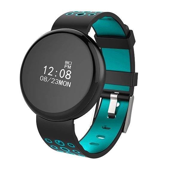 I8 Relojes Inteligentes de 0.66 Pulgadas Monitorización del sueño con Ritmo cardíaco Pulsera Inteligente Reloj recordatorio