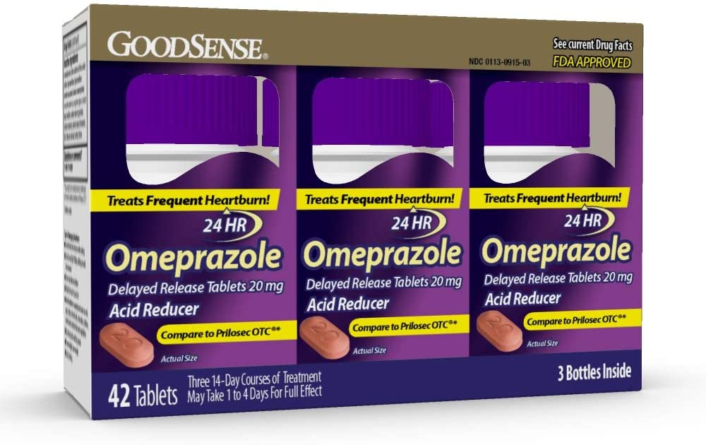 GoodSense Omeprazole Delayed Release Tablets 20 mg, 42 Count: Health & Personal Care