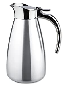 Isosteel Va-9344k 0.6 Liter 20 Oz Polished Stainless Steel Tableline Double Walled Vacuum Carafe