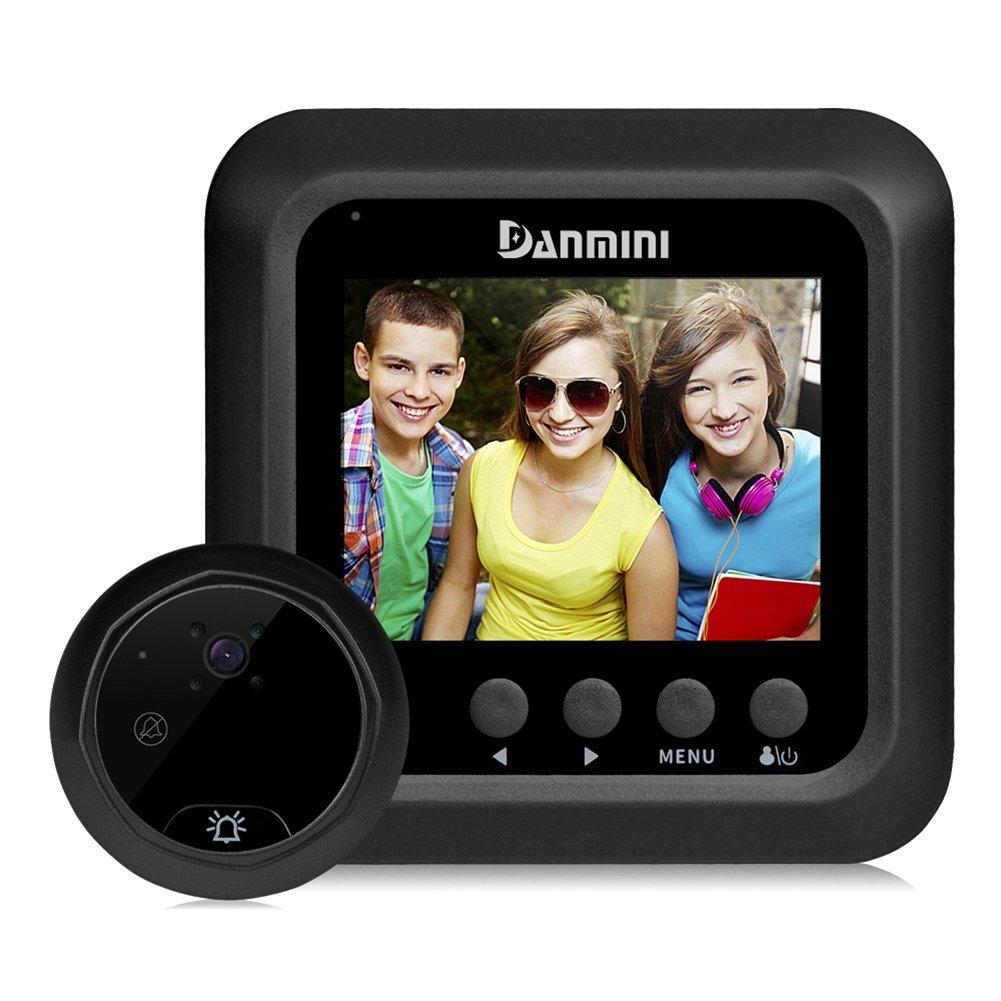 SMART Security Camera Sonnette numé rique LCD Judas de porte Viewer avec 2.0 MP Camé ra HD é cran de 6,1 cm Vision de nuit infrarouge 160 degré s Grand Angle, noir HOMYY