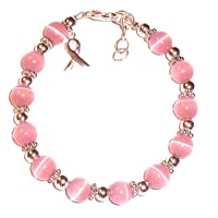 Hidden Hollow Beads Cancer Awareness Beaded Pink Breast Cancer or Multi Colored...