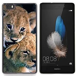 "For Huawei Ascend P8 Lite (Not for Normal P8) Case , Cachorro de león Cachorro de piel del bebé Naturaleza Animal"" - Diseño Patrón Teléfono Caso Cubierta Case Bumper Duro Protección Case Cover Funda"