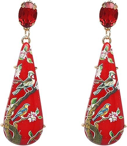 Retro Ethnic Rounded Metallic Fringes Tassels Drop Dangle Stud Earring For Women Girls