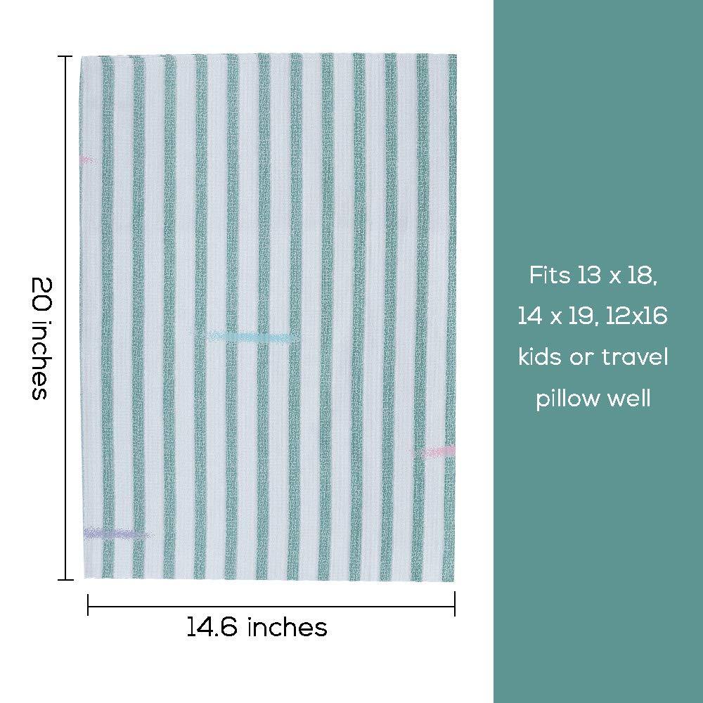 2 Pack Travel Pillow Case Envelope Closure Forest Green Organic Cotton Toddler Pillowcase 14 x 20