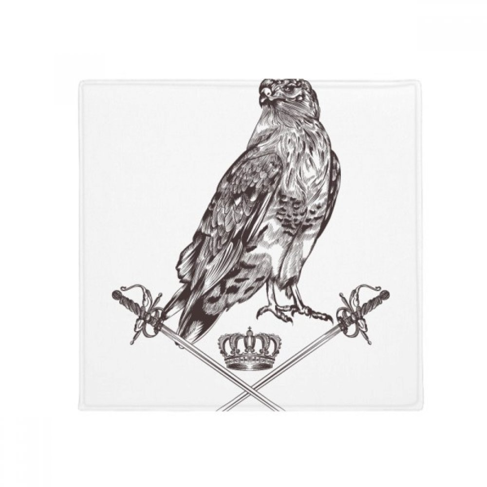 DIYthinker Eagle Sword Crown Animal Baroque Style Anti-Slip Floor Pet Mat Square Home Kitchen Door 80Cm Gift