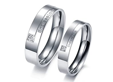 Jewelry Stainless Steel Endless Love Couples' Promise Rings