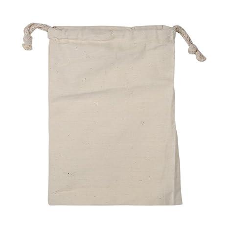 PAQUETE de 6 Bolsas de Cordón de Algodón, Bolsa de tela para ...
