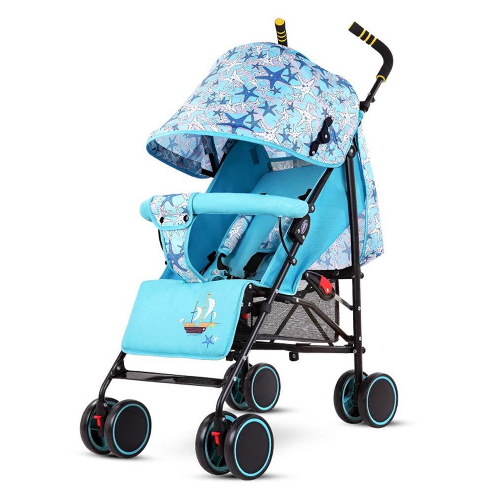 ベビーカー、新生児リクライニングと睡眠5点安全ハーネスマルチポジションリクライニングシート大型収納バスケットサスペンションホイール付きショックアブソーバーを折る   B07MQ8B1PK