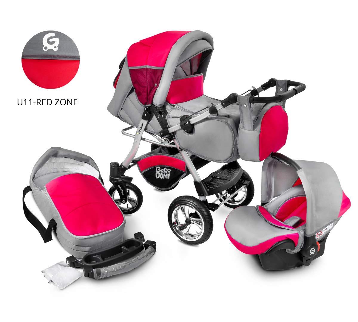 Urbano Kombikinderwagen Kinderwagen Babyschale 3in 1 System Autositz U1-Owls