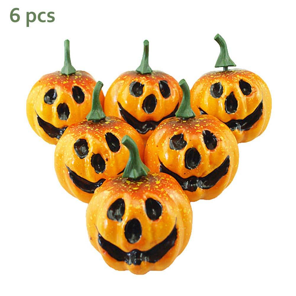 Sahalo 6PCS Zucca Foglia dAcero Abbellimento Decorazione Zucche Halloween Festa Autunno Puntelli Decorativi Puntelli Fotografia
