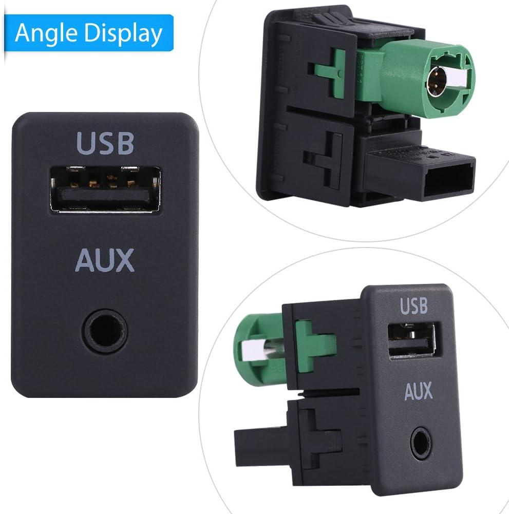 USB Kabel Schalter Auto USB AUX Audio Kabel Schalter Stecker f/ür B6 B7 Touran Facelift RCD510 // 31