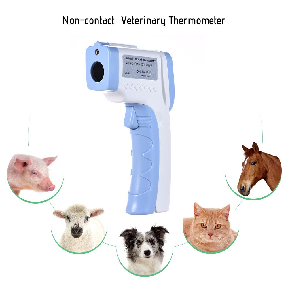 Ritioner Pet Infrared Thermometer, Digital Pet Thermometer,Non-Contact Infrared Veterinary Thermometer for Dogs Cats Horses and Other Animals C/F Switchable by Ritioner