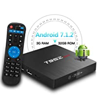 Android TV Box,T95Z MAX Android 7.1 Player 3GB RAM/32GB ROM Amlogic S912 Octa Core Media Box 2.4/5Ghz WiFi 1000M LAN Ethernet 64-Bit H.265 Bluetooth 4.0 DLNA UHD 4K Mini PC TV Boxes