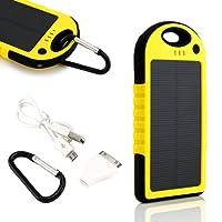 Gearonic Waterproof Solar Power Bank, Yellow