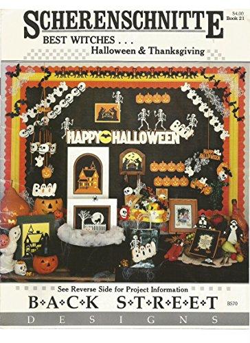 Scherenschnitte Best Witches Halloween & Thanksgiving Book 21 -